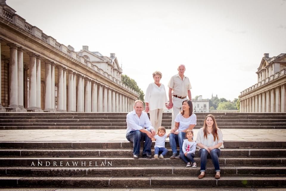 Extended family photo session London