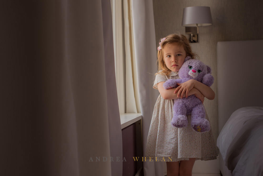 little girl and her teddy