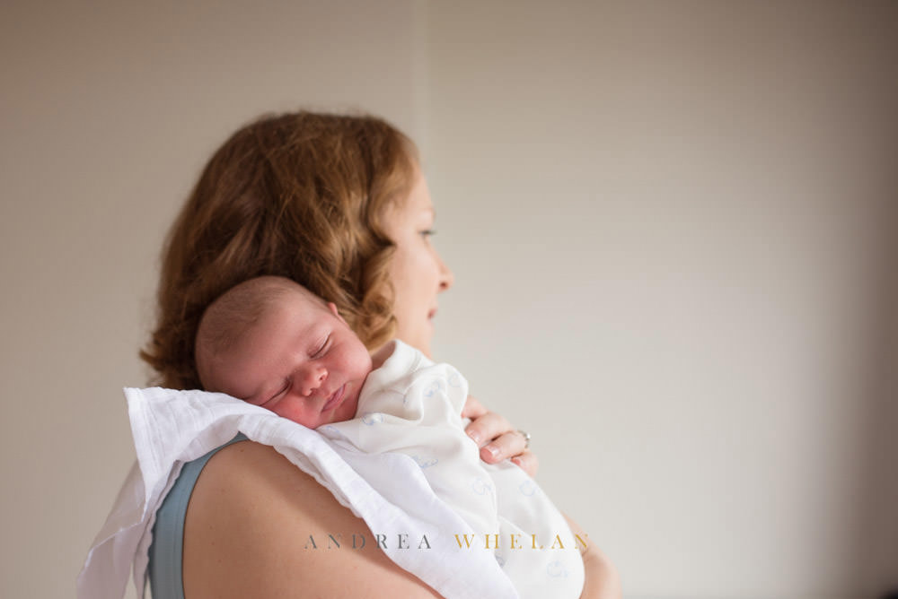 relaxed newborn portraits at home
