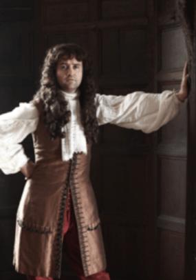 Daniel Mays as Samuel Pepys. © ITV 2014