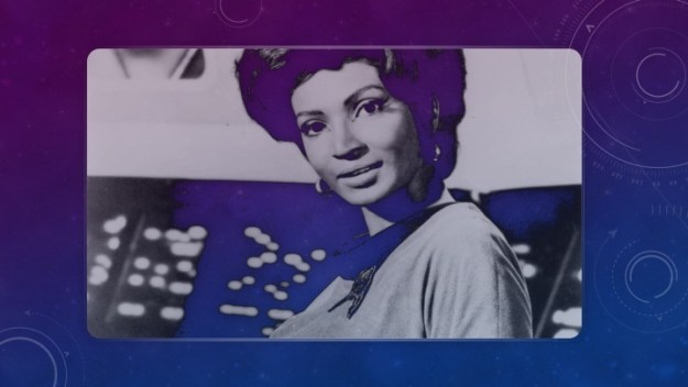 Nichelle Nichols as Uhura, NASA recruiter, popular science advocate