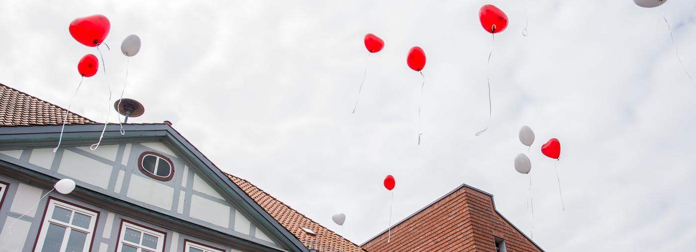 Hochzeit Herz Ballons