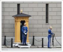 Часовые перед Стокгольмским королевским дворцом Kungliga slottet.