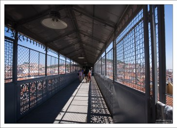 Верхняя остановка лифта Санта Жушта.