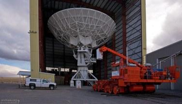 Ангар, где проводится ремонт антенн.