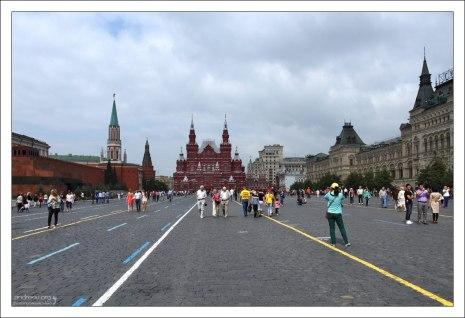 Здание Исторического музея на торце Красной площади.