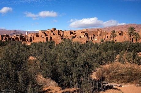 Укрепленная деревня Ait Baha на пути в каньон Тодра.