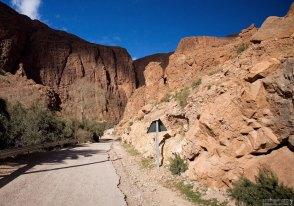 Дорога в каньон Todra.