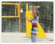 Саша на волейбольной площадке в парке Горького.