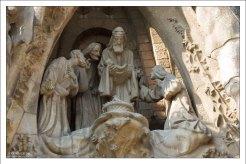 Фасад Рождества: рождение Христа.