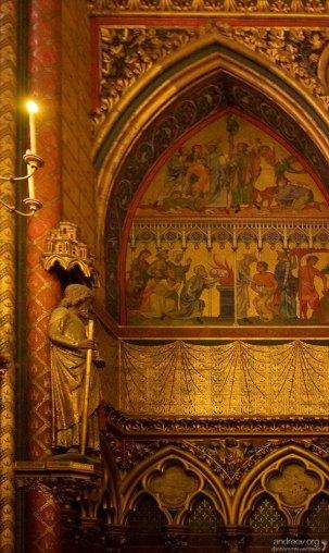 Западная роза с иллюстрациями из Апокалипсиса. Часовня Sainte-Chapelle.
