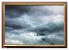 """Огромный холст """"Волна"""" (И. К. Айвазовский, 1899). Государственный Русский музей."""