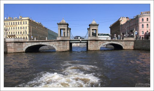 Мост Ломоносова через Фонтанку.