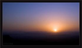 Пустынный закат.