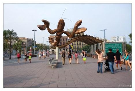 """""""Gamba de Mariscal"""" - всё, что осталось от рыбного ресторана, стоявшего когда-то на набережной."""