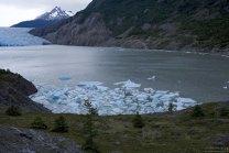 Отколовшиеся от ледника Grey льдины.