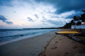 Начало прилива. Пляж перед гостиницей.