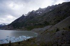 Конечная точка тропы к леднику Grey.
