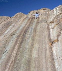 Катя собирается съехать с холма Rodadero Hill. Церемониальный комплекс Саксайуаман.