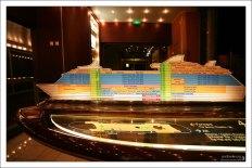 Схема-указатель в виде корабля.