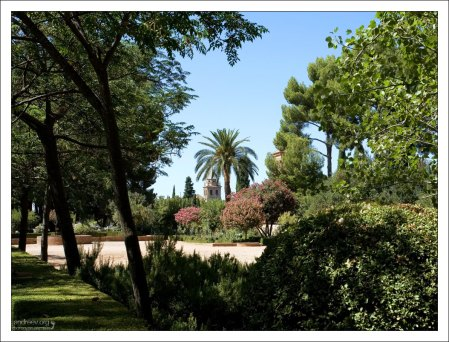 В саду Хенералифе в Альгамбре.