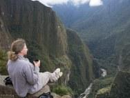 Утренний чай в Мачу-Пикчу.