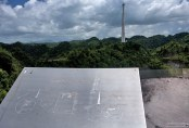 Схема обсерватории Аресибо.