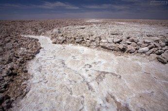 Salar de Atacama - самая большая соляная равнина в Чили (100 км в длину, 80 км в ширину).