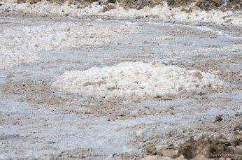 Лежащая на поверхности соль. Salar de Atacama.
