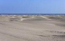 Полоса белоснежных дюн вдоль Панамериканы.