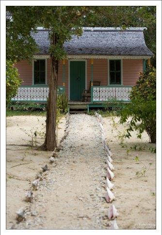 Восстановленный на территории ботанического сада деревянный дом, принадлежавший ранее местному жителю Джулиусу Ранкину.