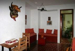 """Холл отеля """"Luz en Yucatan"""" в Мериде."""