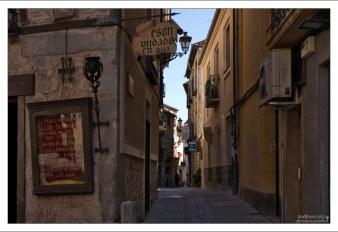 Старинные улочки недалеко от собора. Сеговия, Испания.