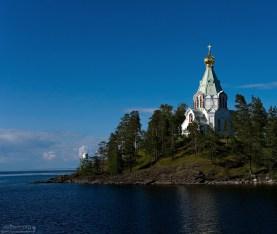 Пpототипом аpхитектуpы Никольской церкви явились московские храмы XV-XVI вв. Остров Валаам, Ладожское озеро.