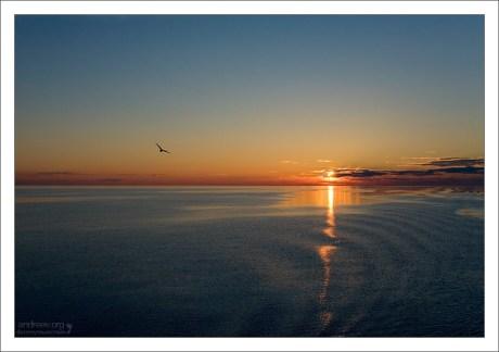 Закат на Ладоге.