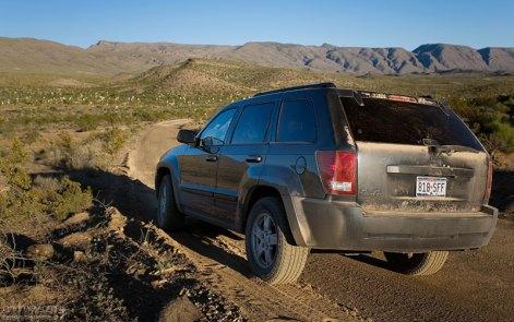 Dagger Flats auto trail - это 8 км гравийной дороги, заканчивающейся петлей в юкковой долине.