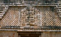 Маски Чак-Мула (Chac-Mool) - бога дождя по майской мифологии. Квадрант Монашек. Ушмаль.