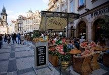 Уличное кафе на Староместской площади.