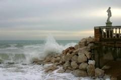 Побережье Адриатического моря в районе городка Porto Recanati.