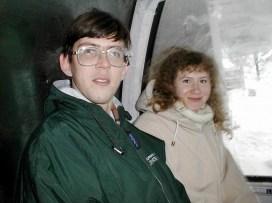 В вагоне подъемника. Горнолыжный курорт Stowe.