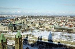 Панорама с Парламентского Холма и из Башни Мира.