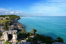 Лазурное Карибское море. Полуостров Юкатан.