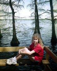 Reelfoot Lake, TN, образовано в результате землетрясения в 1812 году, крупнейшего для континентальной части США. Апрель, 2000 год.