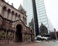 Trinity Church. Посторена в 1877 году под началом архитектора Henry Hobson Richardson'a.