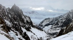 Франция на горизонте: горы Aiguille du Midi.