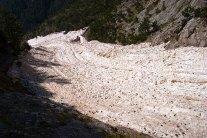 Старый ледник спускается со склонов горной системы Олимп.