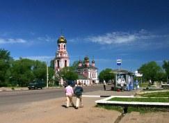 Трасса А108, проходящая через город Дмитров.