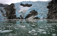 Льдины в Северо-Западной лагуне.