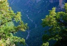 Река Voidomatis, пробившая в скалах каньон Викос. Vikos-Aoos National Park.
