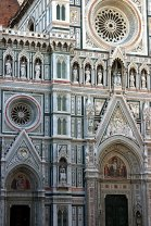 Главный вход в Флорентийский Duomo. Флоренция.